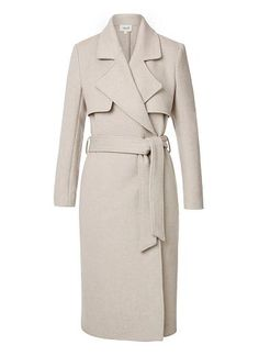 Comfortable yet neat fitting silhouette features a wide lapel, long sleeves, side pockets and waist tie with long line hem. Available in Wheat as shown. Jackets For Women, Clothes For Women, Velvet Fashion, My Wardrobe, Wardrobe Basics, Jackets Online, Top Coat, Vest Jacket, Autumn Winter Fashion
