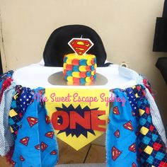 Mini superhero smash cake || first birthday                                                                                                                                                     More