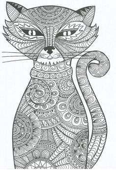 Adult Coloring Pages Cats . 30 Beautiful Adult Coloring Pages Cats . Coloring Cat Adult Coloring Book Amazing Realistic Page Cat Coloring Page, Animal Coloring Pages, Coloring Book Pages, Coloring Sheets, Fairy Coloring, Mandala Coloring, Mandalas Drawing, Zentangles, Adult Coloring Pages