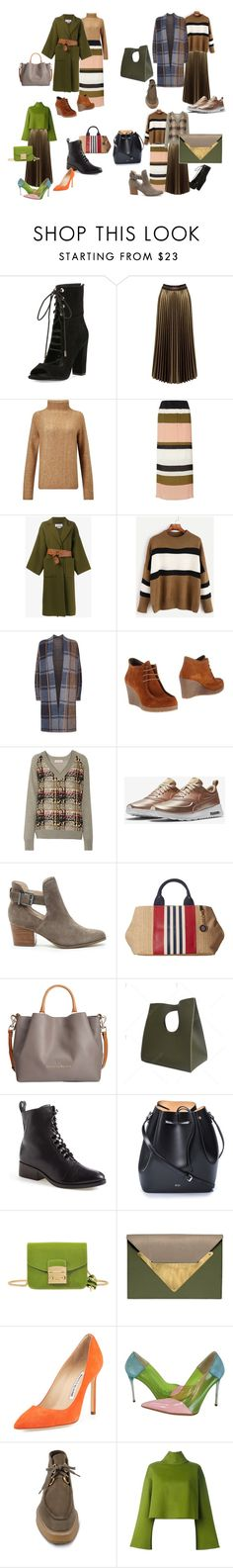 """""""Две юбки и..."""" by mbits ❤ liked on Polyvore featuring Kendall + Kylie, Sans Souci, Samsøe & Samsøe, Dorothy Perkins, Loewe, SET, e(x)it, See by Chloé, NIKE and Sole Society"""