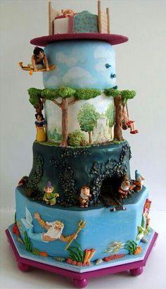 Great Disney Animation themed cake