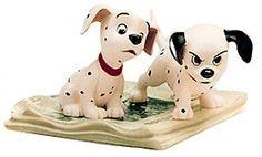 WDCC Disney Classics 101 Dalmatian Two Puppies On Newspaper #WDCCDisneyClassics #Art. Retired 10/99.
