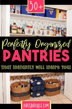 30 Perfectly Organized Pantries That Will Inspire You To Give Your Pantry A Makeover - NOW Pantry Organization, Organized Pantry, Organizing, Kitchen Pantry Cabinets, Pantry Design, Walk In Pantry, Cool Kitchens, Diy Bedroom Decor, Dreaming Of You
