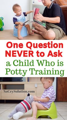 If there's one question never to ask a potty training child, this is it. This ar. - If there's one question never to ask a potty training child, this is it. This article tells you w - Natural Parenting, Gentle Parenting, Kids And Parenting, Parenting Hacks, Toddler Potty Training, Potty Training Tips, Toilet Training, Positive Parenting Solutions, Conscious Parenting