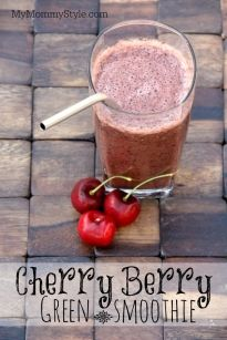 Cherry Berry Green Smoothie - My Mommy Style