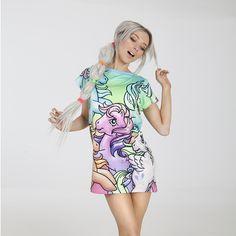 5a162f925d4 My Little Pony Ponyland 2.0 Long Oversized Tee Pastel Fashion