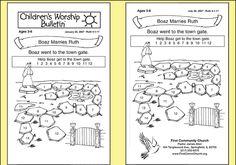 Free Printable Church Bulletins | ... Church Lessons | Sample Children's Worship Bulletins | Children's