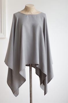 The Little Black Dress Boutique Limited. Tutti & Co Grey Poncho - S105