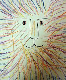 Pre-K lions. Art for Preschool Kindergarten Names, Kindergarten Art Projects, Kindergarten Drawing, Drawing For Kids, Art For Kids, Lion Drawing, Drawing Art, Lion Art, Drawing Projects