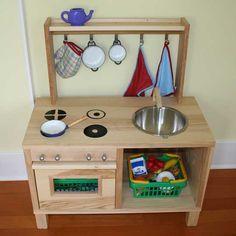 DIY play kitchen - like the shelf idea