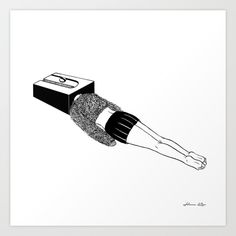 Buy Thinking Sharp Art Print by Henn Kim. Worldwide shipping available at Society6.com. Just one of millions of high quality products available.