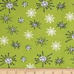 Michael Miller Star Jacks Kryptonite from @fabricdotcom  From Michael Miller, this cotton print is perfect for quilting, apparel and home decor accents.  Colors include lime, white and black.