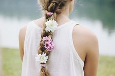 with grace in her heart and flowers in her hair