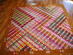 Two inch scrap quilt