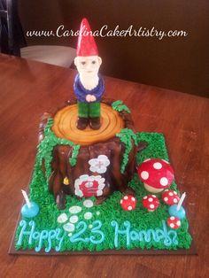 Edible White Chocolate Gnome Cake!