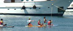 Estades de nens a l'Escola de Vela de Mataró al setembre de 2013. A la mar!