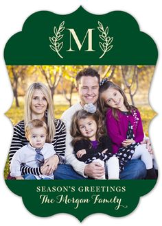 It is always a challenge to come up with fun and festive Christmas cards. The goal is to always make the next greeting even better. Find the cards you are looking for on the online invitation store. A great way to make your seasonal card classy and current is by sending out family photo cards with a monogram. This automatically make a card sophisticated, personalized, and tasteful. The Boughs of Holly Photo Card is available for purchase on Polka Dot Design's website.