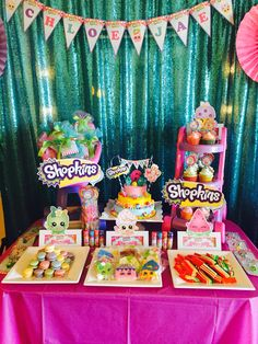 Shopkins Dessert Buffet!! All for my darling daughter's Shopkins Party