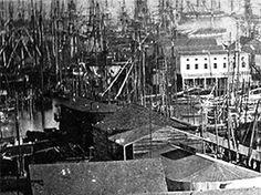 Waterfront view of San Francisco taken in December 1850.
