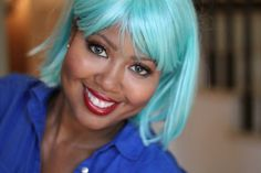 Monique Cooper Blue hair