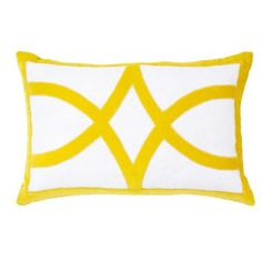 Made with hand-cut linen and velvet, this plush pillow features a vibrant yellow star motif. Toss Pillows, Linen Pillows, Accent Pillows, Yellow Home Accessories, Yellow Home Decor, Yellow Cushions, Cushions Online, Decorative Cushions, Designer Pillow