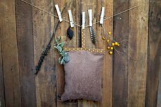 Spelt husks pillow with cover filled with by JaraKacaHandmade