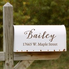 Add some character to your mailbox with one of our decorative mailbox decals.These are easy to apply and can be gently washed. Includes one decal. If you would like one for each side, please order two