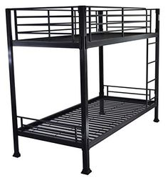 The Bedstead Collection King Black Metal Bunk Bed Black Bunk Beds, Metal Bunk Beds, Bunk Beds With Stairs, Cool Bunk Beds, Kid Beds, Single Bunk Bed, Space Saving Beds, Cafe Furniture, Beds For Sale