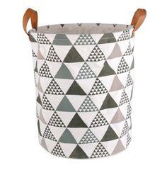 fashion design canvas laundry basket with pu handles laundry basket storage