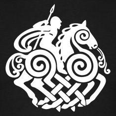 Schwarz Odin 3 (vector) T-Shirts