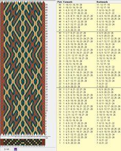 28 tarjetas, 3 colores, repite cada 20 movimientos // sed_443 diseñado en GTT༺❁