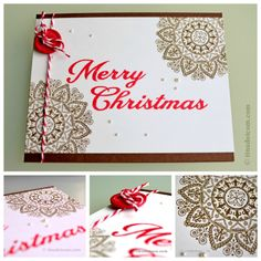 Mehndi Medallion - Papertrey Ink - Stamped Christmas Card