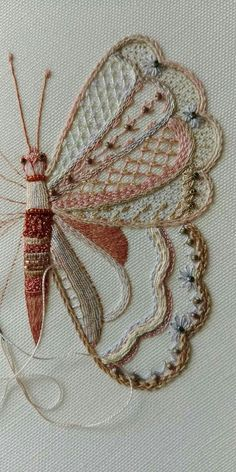 Hand Embroidery Projects, Creative Embroidery, Crewel Embroidery, Hand Embroidery Designs, Embroidery Techniques, Ribbon Embroidery, Cross Stitch Embroidery, Embroidery Patterns, Needlework