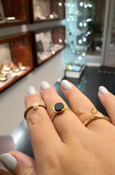 #pierścionki #perła #cyrkonia #bursztyn #biżuteriaautorska #margotstudio