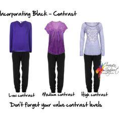 incorporating black using contrast