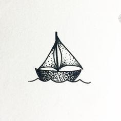 The little boat that could! #sailboat #dotwork #blackwork #drawing #tattooflash by uhhhhtaco