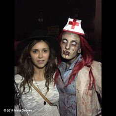 Pin for Later: Celebrity Candids You Don't Want to Miss This Week  Nina Dobrev went to a haunted house.  Source: Instagram user ninadobrev