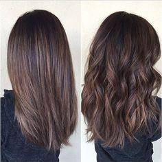 półdługie włosy
