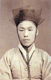 Kim Ok-gyun was a reformist activist during the Joseon Dynasty of Korea. Korean Dress, Korean Outfits, Korean Traditional, Traditional Art, Shanghai, Korean Photo, Living In Korea, What Is Today, Korean Wave