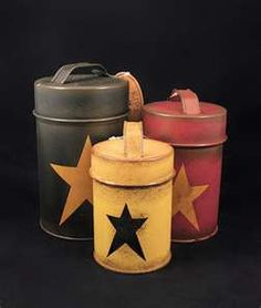 Not the colors or stars.... just the tins!!!
