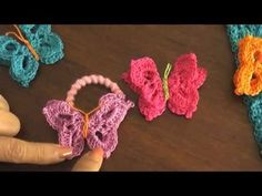 Video tutorial de las mariposas tejidas a crochet