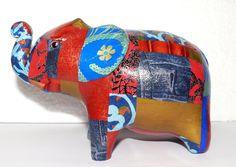 Decored animal #Elephant #PhnomPenh #SilkandPepper #MadeinCambodia #Cambodia #Handmade