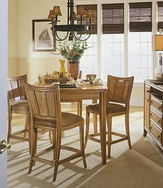 Antigua Gathering Table Dining Set By American Drew Furniture
