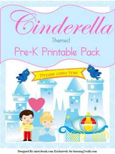 Love fairy tales of princesses and princes? Try these free printables for Cinderella