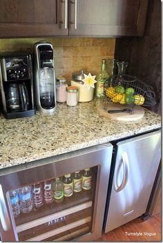 Coffee bar drink station on pinterest home coffee bars for Mini coffee bar
