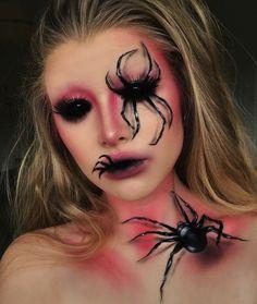 Unique Halloween Makeup, Halloween Makeup Looks, Scary Halloween, Halloween Spider Makeup, Make Up Looks, Horror Make-up, Creepy Makeup, Ghost Makeup, Makeup Art