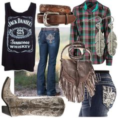 Cute n' country! Country Style Outfits, Country Girl Style, Cute N Country, Country Fashion, Country Fall, Country Wear, Cowgirl Outfits, Cowgirl Style, Western Outfits