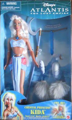Disney Crystal Princess Kida Atlantis Barbie Doll Power Crystal Mattel 2000 | eBay