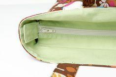 Tuto tote bag fermé avec une fermeture éclair (zip)