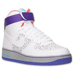 the latest 23ca7 bf2b9 ... Men s Nike Air Force 1 High 07 Basketball Shoes   Finish Line    White Wolf ...